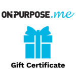 a gift box on purpose dot me gift certificate
