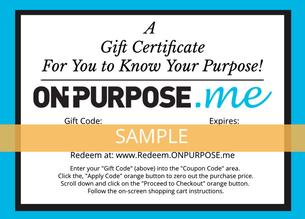on purpose dot me sample gift certificate image